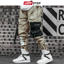 Overalls Cargo-Pants Camouflage Joggers Patchwork Zipper Men LAPPSTER Ribbons