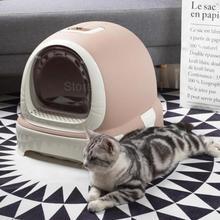 Кошачья песочница полностью закрытый кошачий Туалет очень большой дезодорирующий кошачий навоз удобный и простой в использовании выдвижной ящик кошачий Песочник