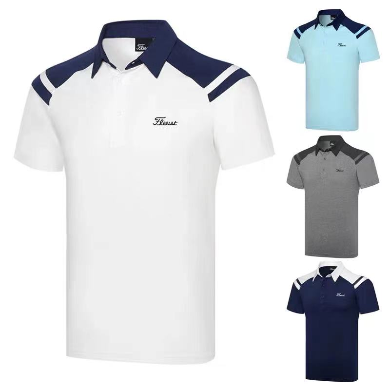 Golf clothing men's 2021 new outdoor sportswear, short-sleeved casual T-shirt, breathable Polo shirt