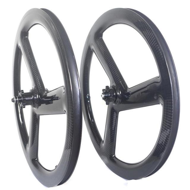 Tri Spoke 20 Inch 451 Carbon Wheelset BMX Folding bike wheels Disc Brake 3 Spoke Carbon Bike Wheels