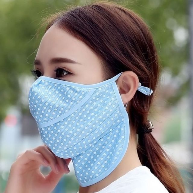 Summer Dust Masks Dots Fashion Breathable Sunscreen Neck Protective UV Masks Unisex 5