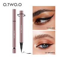 O.TWO.O Ink Color Waterproof Eyeliner Liquid Pen Long Lasting Rose Gold Design Black Brown Eye Liner Pen Makeup 2020 New Arrival