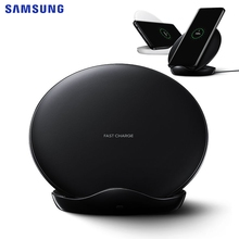 цена на SAMSUNG Original Fast Wireless Charger Charging Pad For Samsung Galaxy S9 Plus S10+ N9600 iPhone8 S7 edge G955F S8 S9 EP-NG930