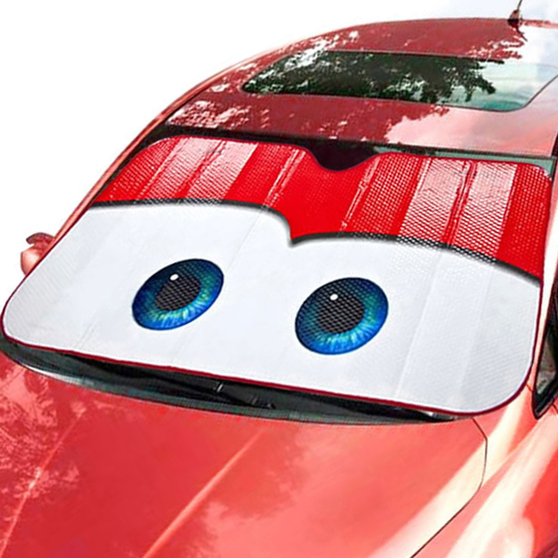 6 Color Cute Cartoon Eyes Car Windshield Sunshade Auto Window Windscreen Cover Sun Shade Car-covers Car Solar Protection