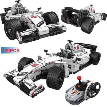 729PCS City RC F1 Racing Car Building Blocks Compatible Technic Remote Control Car Electric Bricks Educational Toy For Children цена 2017
