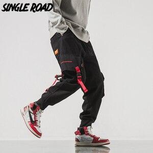 Image 1 - SingleRoad Mens Cargo Pants Men Hip Hop Japanese Streetwear Ribbon Pants Men Mens Trousers Joggers Male Fashion Sweatpants Man