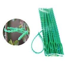 Пластиковые кабельные стяжки для растений 50 шт 13 / 17 см садовые