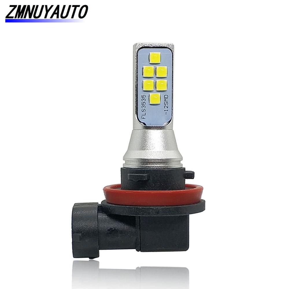 1400LM H8 H11 LED Auto Fog Light 12 3535SMD Car Daytime Running Light DRL Lamp Drving Bulb 12V 24V 6000k White