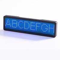 Recargable LED nombre insignia 11*55 puntos publicidad texto desplazable editable mini pantalla LED con diferente color y LED