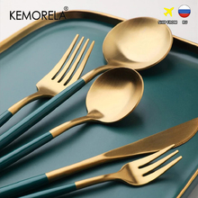 Dinnerware Set 304 Stainless Steel Cutlery Set Fork Steak Knife Set Coffee Spoon Teaspoon Flatware Tableware Kitchen Silverware