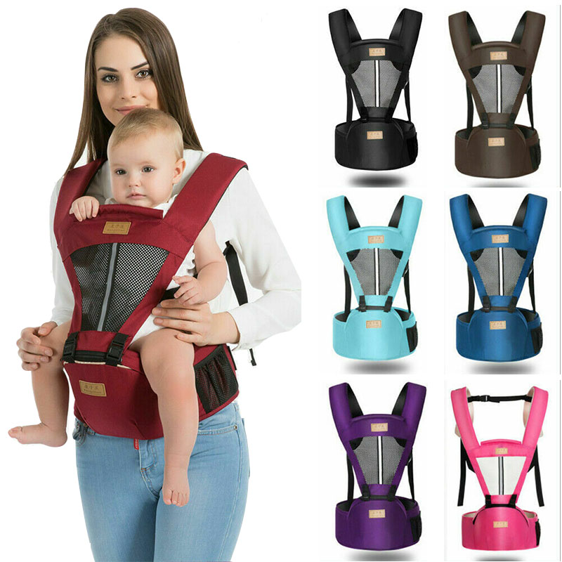 Baby Carrier Infant Kids Baby Hipseat Sling Breathable Front Facing Kangaroo Baby Wrap Carrier For Baby Travel 0-18 Months