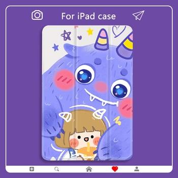 цена на ipad pro 2020 Personalized Cartoon Demon Case for ipad Mini 2 PU Leather 10 2 ipad 7th generation case Hard Back Cover For Air 2