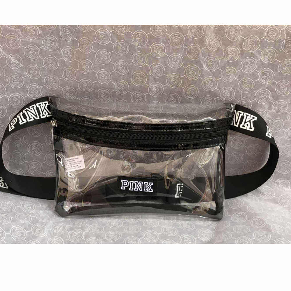 Holographic สีชมพู Fanny Pack กระเป๋าเข็มขัดเอวกระเป๋า PU กระเป๋าหน้าอกกระเป๋า Travel Silver เอวขากระเป๋า