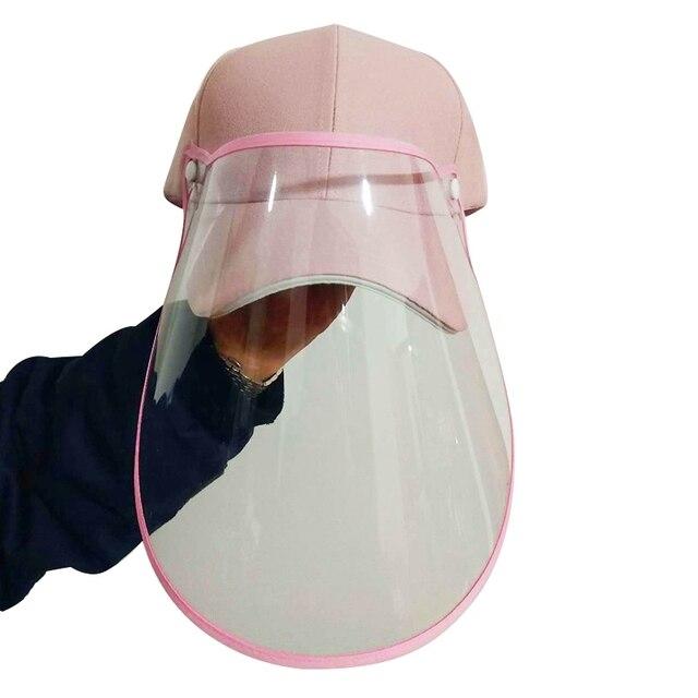 Face Shield Protective Baseball Cap for Anti-Fog Saliva Sneeze Adjustable Shield Protection 1