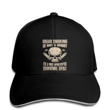 Baseball Cap Men Cigar Smoking Is Not A Hobby Its A Post Apocalyptic Survival Skill Women Snapback hat peaked(China)