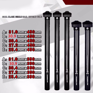 Bike Bicycle Seatpost Aluminum Alloy Black MTB Road Bike Parts 25.4/27.2/28.6/30.4/30.9/31.6/350/450mm Seat Post