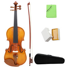 Hot New Full Size 4/4 Natural Acoustic Solid Wood Spruce Flame Maple Veneer Violin Fiddle for Beginner Student Performer(China)
