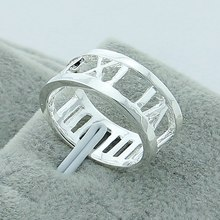 Roman Numerals Ring Punk Fashion Couple Rings 925 Sterling Silver Jewelry Wholesale Women Exquisite Charm Hollow