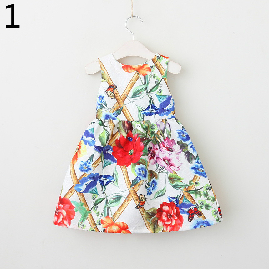 143-1-Girls Flower Princess Sundress