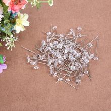 100 шт 6x40 мм Булавка С большой головкой Имитация алмазной головки Швейные позиционные шпильки Швейные иглы DIY Инструменты для изготовления платьев