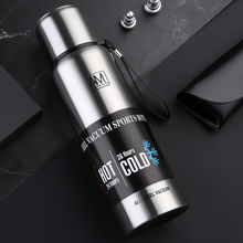 Logo Custom Portable Water Bottle Thermos 1000ml 1500ml 750ml 500ml Double Wall Insulated Vacuum CupTravel Hiking Drink Bottle