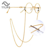 TTLIFE 2019 Metal Cord for Glasses Strap Golden Fashion women sunglasses chain Lanyard Necklace Reading Chain YJHH0276