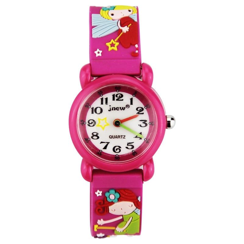 TurnFinger Children% 27s кварц часы 3D милый маленький принцесса мультфильм узор силикон ремешок мода роскошь текстура праздник подарок