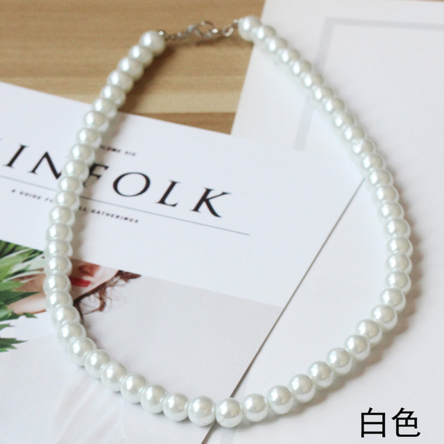 8mm sim. pearl necklace 5