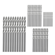 цена на 40 Pcs Mini Drill Hss Bit 0.6Mm-2.0Mm Straight Shank Pcb Twist Drill Bits Set