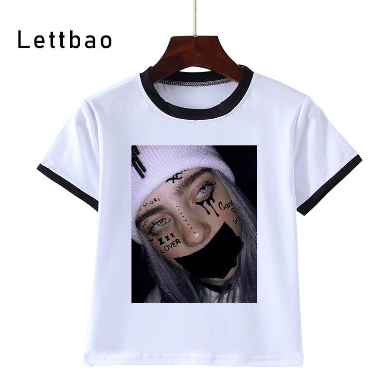 2020 Harajuku Billie Eilish Funny Children T-Shirts Tops Short Sleeve Boys/Girls Clothing Casual Baby Kids Tees