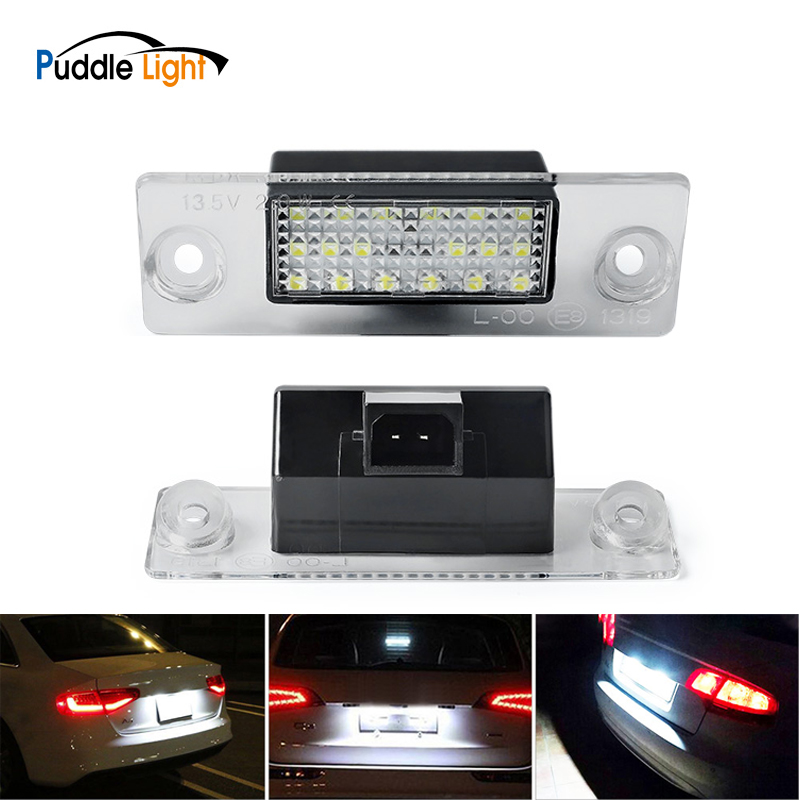 Citall New 2pcs 18led Dc Pin Plastic License Plate Lights Tail Lamp For <font><b>Audi</b></font> <font><b>A4</b></font> <font><b>B5</b></font> 1995 1996 1997 1998 <font><b>1999</b></font>-2001 License Light image