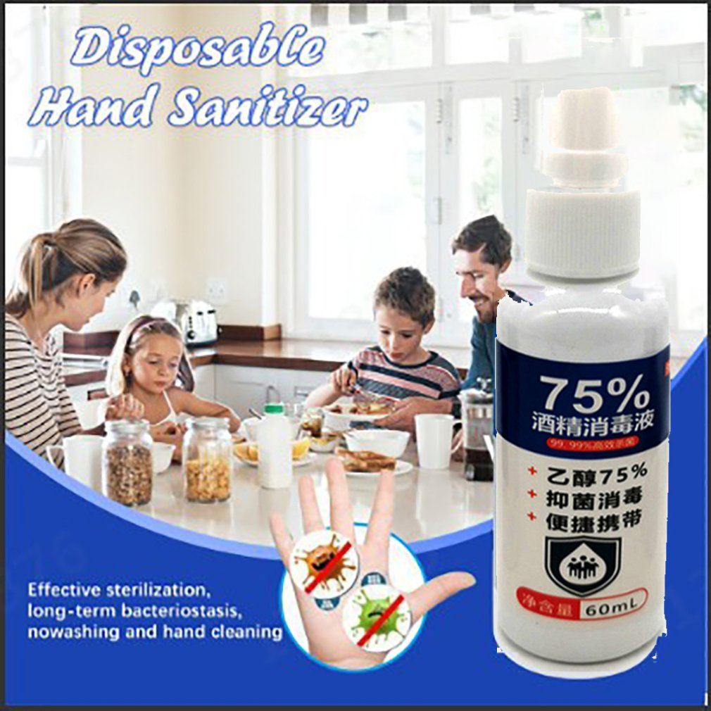 Disposable Hand Sanitizer Ethanol Alcohol Disinfectant 75 Degree Alcohol Spray Disinfectant Gentle And Non-Irritating 1 Pcs