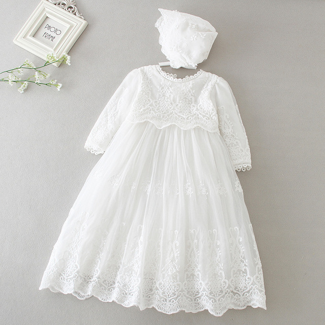 Hetiso Baby Girls Dress Long Sleeve Kids First Birthday Ball Gown Infant Dresses for Baptism Bridesmaid party 3-24 month