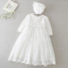 Hetiso תינוק בנות שמלה ארוך שרוול ילדים ראשון יום הולדת כדור שמלת תינוקות שמלות לטבילה שושבינה המפלגה 3 24 חודש