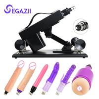 Telescopic & Pumping Automatic Sex Machine Female Masturbation Sex Products With Various Attachments
