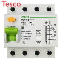 Matismart type B rcd 4 pole 25A 40A 63A ML60-B 400/415V smart air circuit breaker