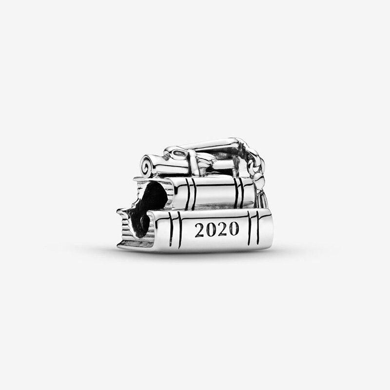 Мода бусины 2020 Выпускной подвески-книги, подходят к оригиналу Pandora, Браслеты Для женщин, сделай сам, ювелирное изделие