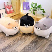 Venda quente bonito shiba inu cão brinquedo de pelúcia pelúcia animal macio corgi chai travesseiro presente de natal namorados presente fotografia adereços