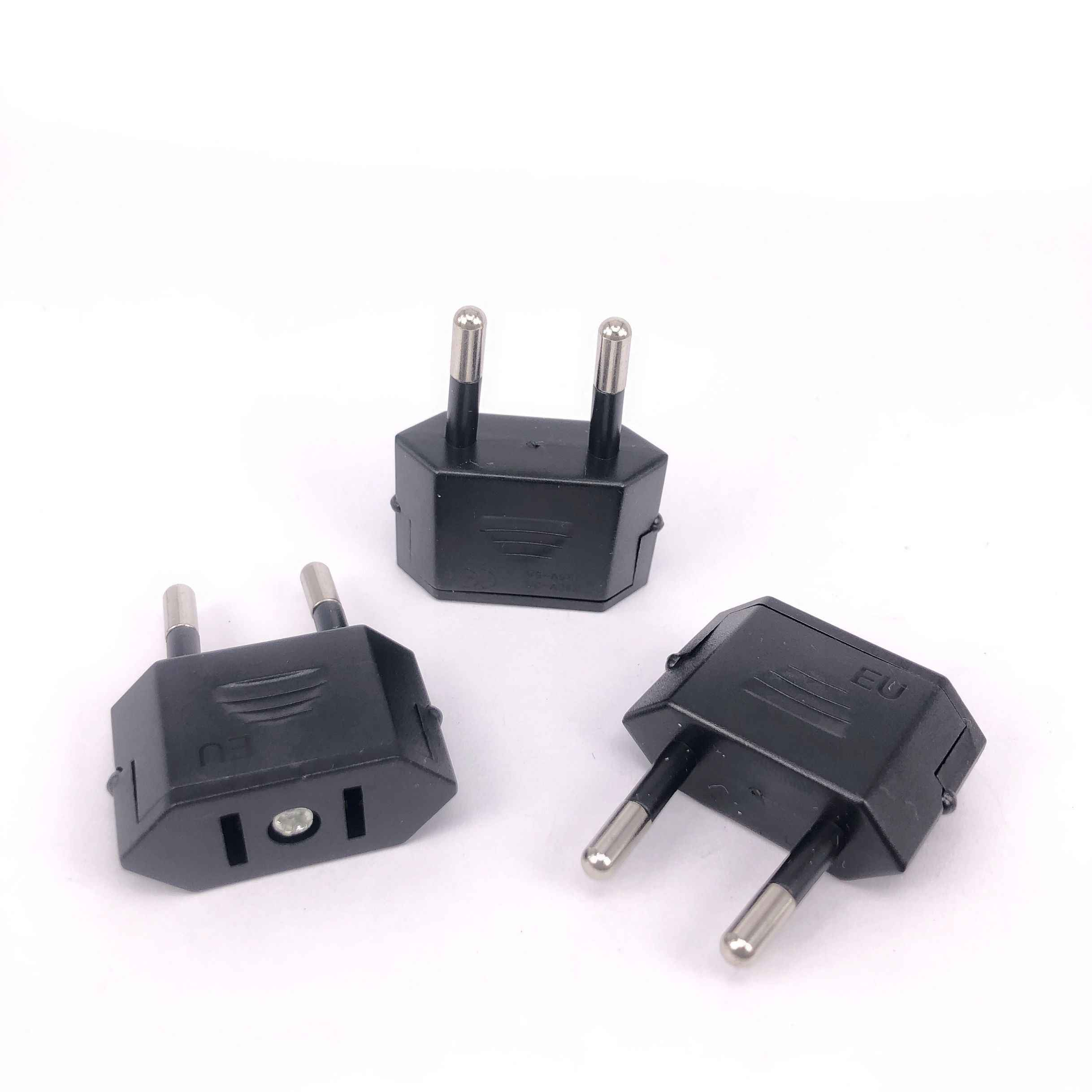 Eu Travel Power Adapter Converter Amerikaanse China Ons Eu Euro Europese Type C Plug Adapter Ac Elektrische 2 Ronde socket Outlet