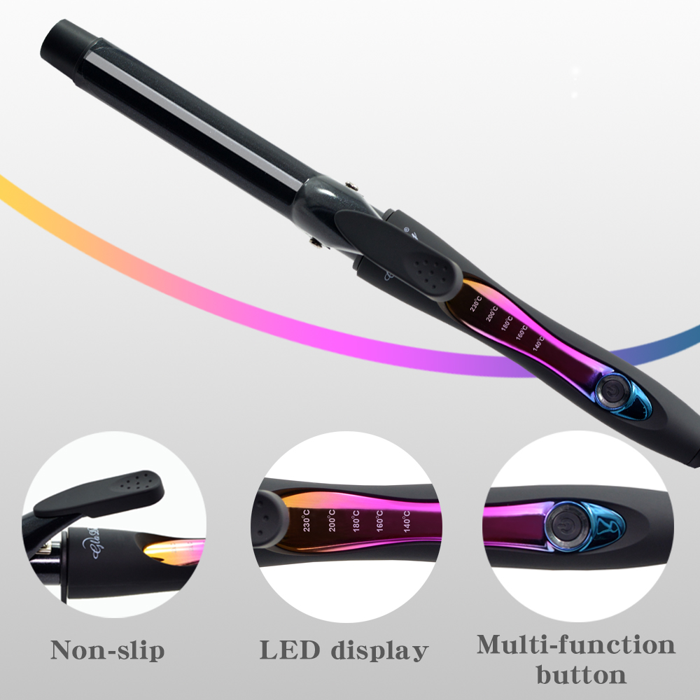 Ceramic Hair Curler 9 mm Wand Curling Iron Professional Hair Curlers With Dual Voltage|Curling Irons| |  - title=