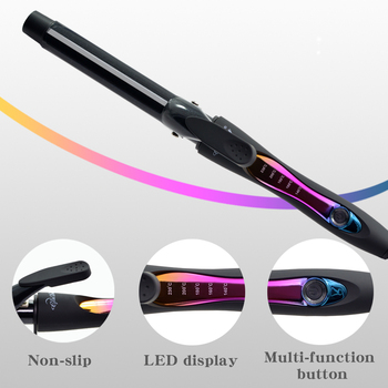 Ceramic Hair Curler 9 mm Wand Curling Iron Professional Hair Curlers With Dual Voltage hot 5 in 1 hair curling iron 09 32mm wand curler with glove electric ceramic hair styler curls professional hair curlers rollers