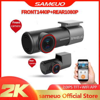 SAMEUO U700 Mini Hidden FHD 1080P Car Dash Cam Front Rear Camera DVR Detector with WiFi FHD Video Recorder 24H Parking Monitor 1