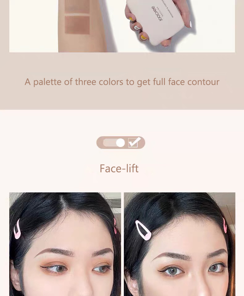 3-Colour All-In-One Highlighting Contour Palette