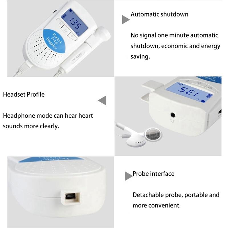 Monitor ultrassom de batimento cardíaco do bebê,