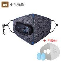 Youpin czysto przeciw zanieczyszczeniom Sport na powietrzu maska z PM2.5 550mAh akumulator filtr trzy trójwymiarową strukturę doskonałe oczyszczania