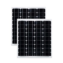 Solar Panel 12v 50w 2 Pcs Monocrystalline Photovoltaic Panels 100w  Motorhome Car Caravan Camp Rv Boat Marine Yacht Waterproof gizcam practical efficiency 12v 50w soft flexible warterproof solar panel monocrystalline tool for yacht car boat snow mobile