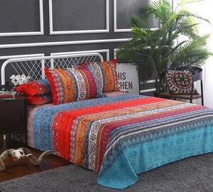 Image 5 - folkDigital print Bedding Set Quilt Cover Design Bed Set Bohemian a Mini Van Bedclothes 4pcs BE1224