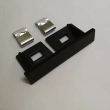 1X New Auto car Matt silver chrome glossy black metal grille emblem for Audi S line Sline