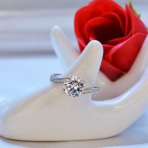 Huitan классические обручальные кольца для женщин, предложение для бракосочетания с любовником, простые кольца с кристаллами циркония, женские кольца для пар, хит продаж
