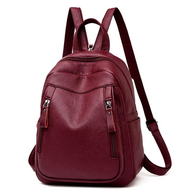 Высококачественный Женский рюкзак VANDERWAH 3 в 1, женский кожаный рюкзак на молнии, нагрудная сумка, вместительная школьная сумка, дорожная сумка